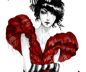 red, art, and illustration image