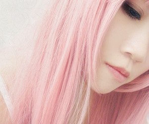 pink, hair, and asian image