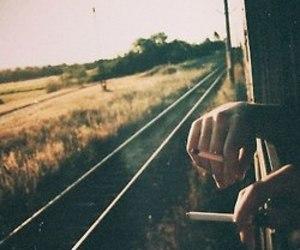 train, smoke, and cigarette image