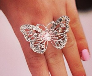 ring, butterfly, and nails image