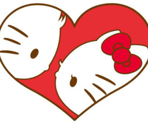 hello kitty, kitty, and love image
