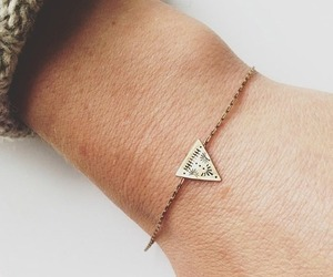 bracelet, style, and triangle image