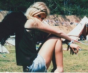 angel, blonde, and hippie image