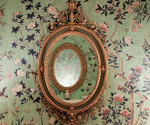 mirror, vintage, and floral image