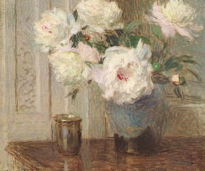 painting and flowers image