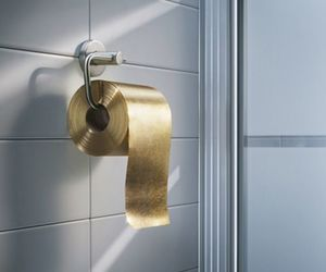 gold, luxury, and toilet paper image