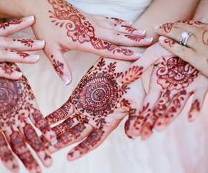 bride, henna, and marriage image