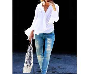boyfriend jeans, fashion, and sandals image