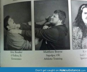 yearbook, boys, and funny image
