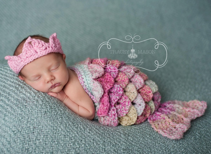 Too Cute Newborn Mermaid Cape Set On We Heart It