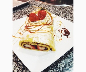 crepe, food, and strawberry image