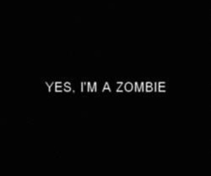zombie, text, and black and white image