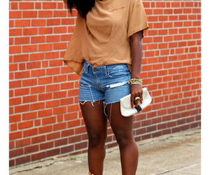 black woman, brown, and casual image