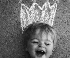 happy, kid, and king image