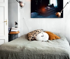bed, home, and design image