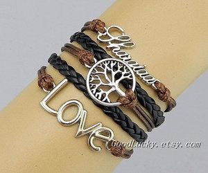 bracelet, bracelets, and brown image