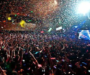confetti and crowd image