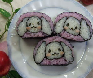 cute, food, and sushi image