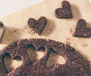 food, heart, and chocolate image