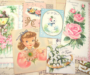 cards, feminine, and vintage image