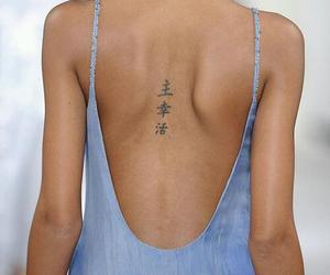 tattoo, model, and dress image