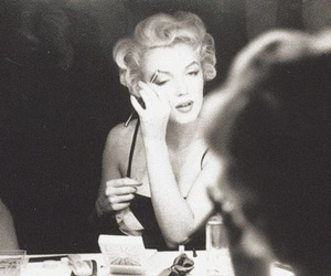 black and white, fashion, and Marilyn Monroe image