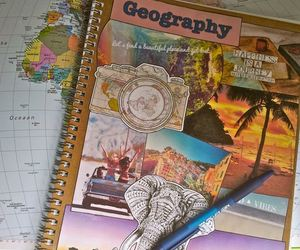 crafting, geography, and notebook image