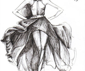 sketch, fashion, and Lanvin image