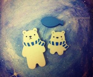 art, bears, and cosmic image