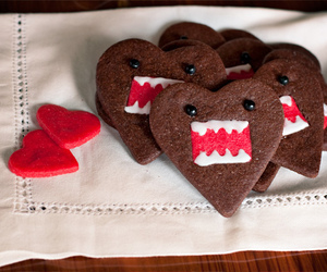 candy, desserts, and heart shaped cookies image