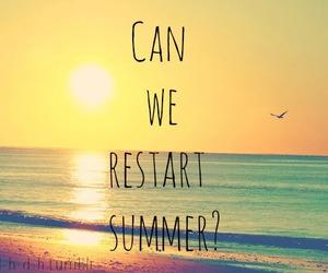 summer, restart, and beach image