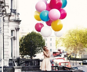 balloons, cute, and girl image