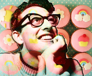 cupcakes, retro, and buddy holly image