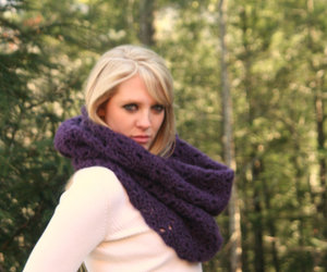 autumn, cowl, and crochet image
