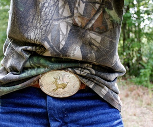 camo, belt buckle, and country image