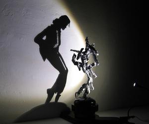michael jackson, shadow, and art image