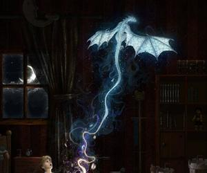 dragon, book, and fantasy image
