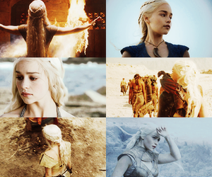 black and white, game of thrones, and emilia clarke image