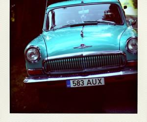blue, car, and retro image