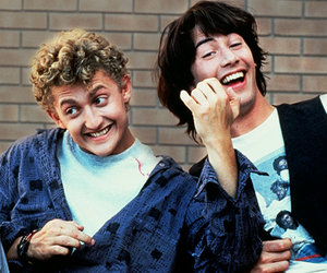 keanu reeves, bill and ted, and alex winter image