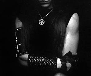 Black Metal, long haired guy, and metalhead image