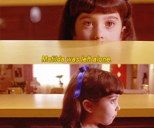 matilda, alone, and movie image