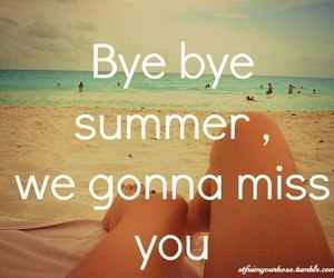 summer, bye, and beach image