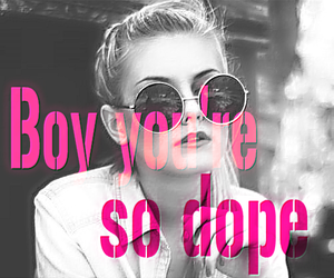 blond girl, boy, and Lyrics image