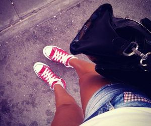 all stars, bag, and converse image