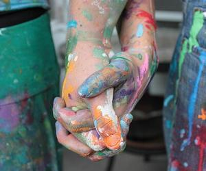 love, hands, and paint image