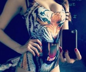 girl, tiger, and body image