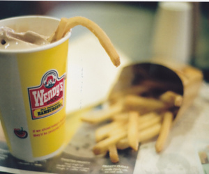 food, fries, and wendy's image