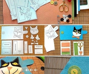cat, diy, and sewing image