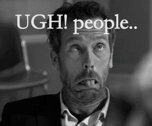 black and white, Dr. House, and people image